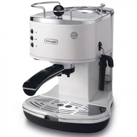 DeLonghi ECO310 Icona Semi-Automatic Espresso Machine In White